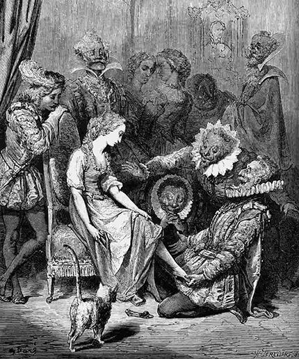 Cendrillon, illustrated by Gustave Doré