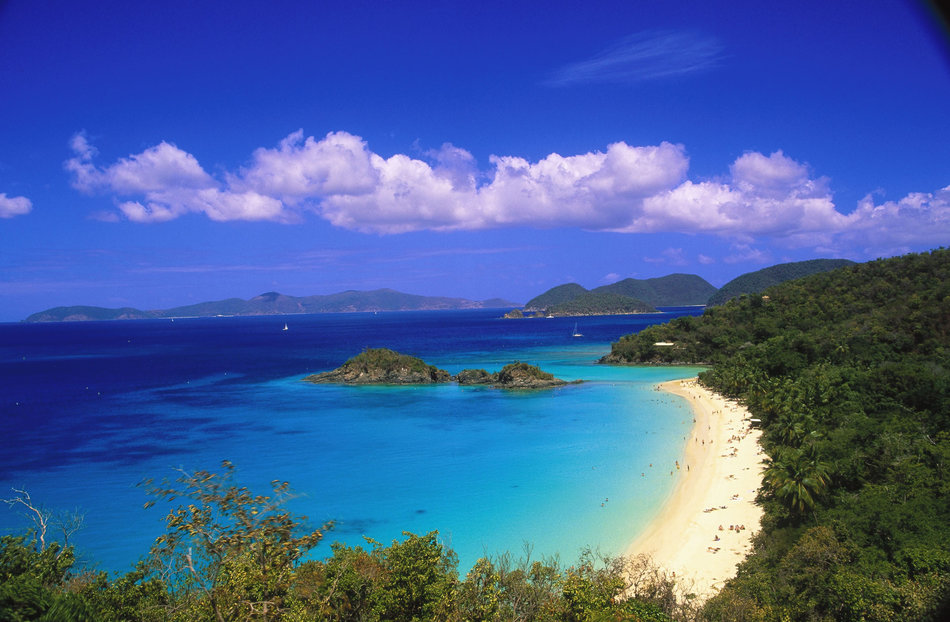 Caribbean, US Virgin Islands, St John, Trunk Bay