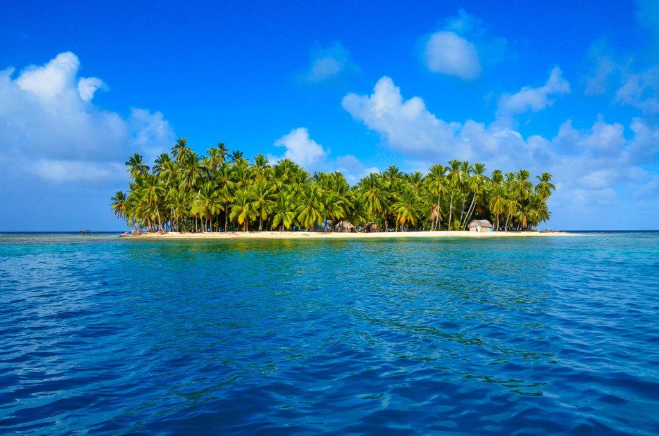 Paradise Tropical Island - San Blas archipelago in Panama