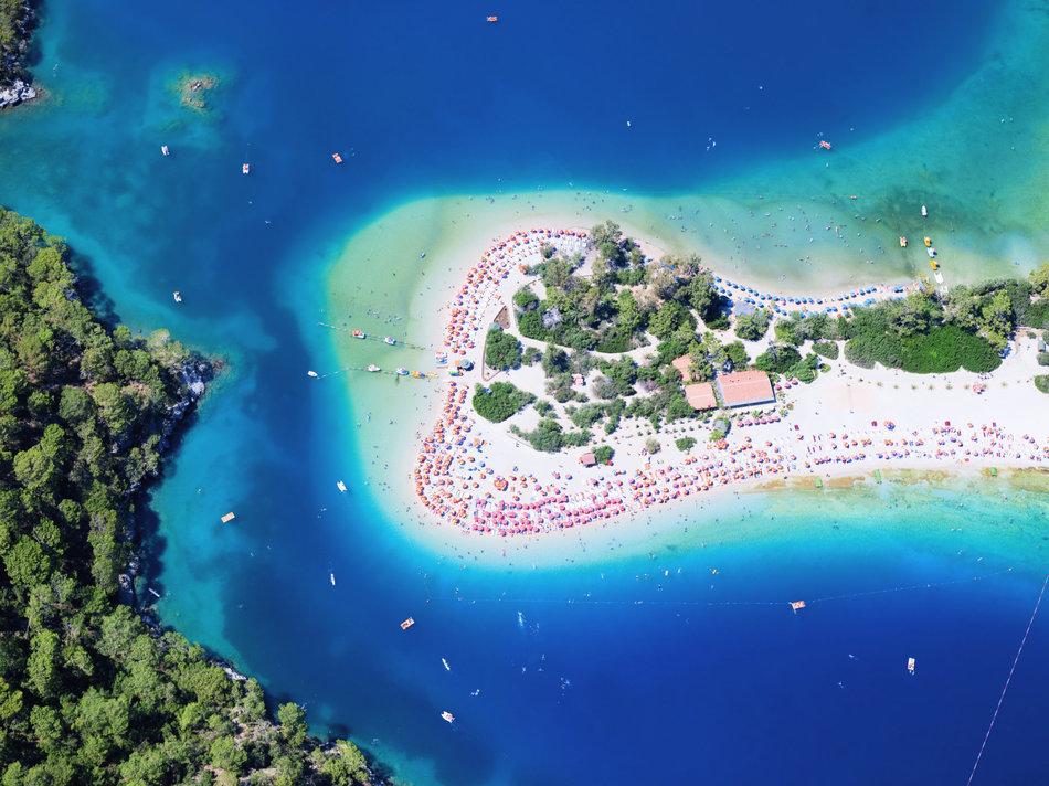 Tropical island, Oludeniz, Mugla Province, Turkey