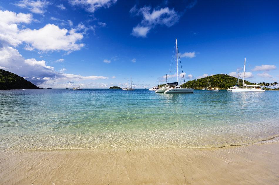 Caribbean, Antilles, Lesser Antilles, Grenadines, Mayreau, Twassante Bay